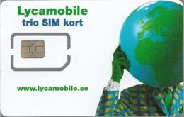 Sweden - Lycamobile - Trio SIM Kort GSM SIM6 Mini-Micro-Nano, Mint - Schweden
