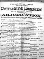 Affiche 1920 Adjudication Pour Travaux Fléron Beyne Herve Heuseux Barchon Oupeye Romsée Jupille Tignée  Milmort  ... - Afiches