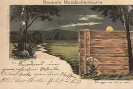 Contre La Lumière Carte Allemande  (petite Coupure Bord )  , Pionnière De 1898    ///  REF  SEPT.  19  /// N° 9403 - Halt Gegen Das Licht/Durchscheink.