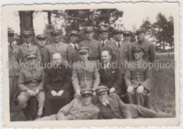 Žaslių Durpyno Saugotojai - Praveniškių Kalėjimo Tarnautojai, 1939 M. Fotografija, Mažo Formato - Lituanie