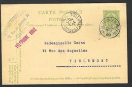 1909 St Gilles Naar Thienen Tirlemont ( Tienen ) Geens Reymond Frèrés  ( Klass Heuroud ) - Stamped Stationery