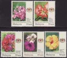 Malaysia Wilayah Persekutuan 2018 2019 Garden Flowers Definitive MNH Unusual (Micro Text Printing) - Malaysia (1964-...)