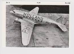 "Photo KLM K.L.M Royal Dutch Airlines Douglas Dc-3 "" Aircraft - 1919-1938: Between Wars"