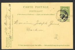 1909  Thienen Tirlemont ( Tienen ) Geens   ( Klass Heuroud ) - Stamped Stationery
