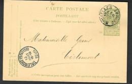 1905 Bruxelles Vers   Thienen Tirlemont ( Tienen ) Geens   ( Klass Heuroud ) - Stamped Stationery