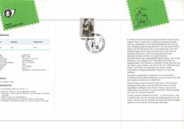 Belg. Postfolder 12 - 1989 OBP 2339 -  Brussel 9-10-1989 (2 Scans) Jeugdfilatelie - Nero - Documentos Del Correo