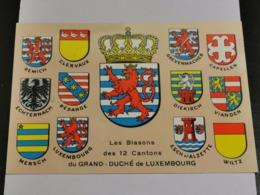 Luxembourg, Blasons De 12 Cantons - Maximum Cards