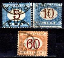 Italia-A-0607: SEGNATASSE 1870-74 (o) Used - Senza Difetti Occulti. - Paketmarken