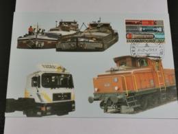 Luxembourg, Transport Par Eau, Rail Et Route - Cartoline Maximum