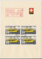 Faltblatt Mit Automobilpost SS Zürcher Kanbenschiessen 1943 - Marcophilie