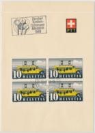 Faltblatt Mit Automobilpost SS Zürcher Kanbenschiessen 1948 - Marcophilie