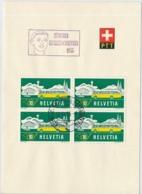 Faltblatt Mit Automobilpost SS Zürcher Kanbenschiessen 1955 - Marcofilie