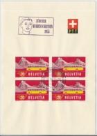 Faltblatt Mit Automobilpost SS Zürcher Kanbenschiessen 1955 - Marcophilie