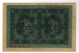 Reichsbanknote 50 Mark 1914 N-Nr. 3878151   912913 - [ 2] 1871-1918 : Duitse Rijk