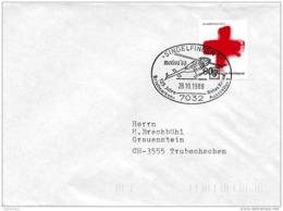 204 - 56 - Enveloppe Allemande Avec Oblit Spéciale De Sindelfingen Avec Hélicoptère 1988 - Helicópteros