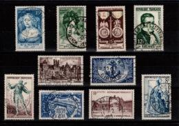 Obliterations Parfaites Sur 10 Timbres Des Annees 1950 à 1953 Cote 8,30 Euros - France