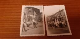 Ransart Lot 2 Petites Photos Procession 3 Juin 1945 Café - Charleroi
