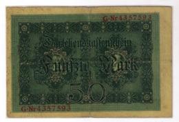 Reichsbanknote 50 Mark 1914 G-Nr. 4357593   914915 - [ 2] 1871-1918 : Duitse Rijk