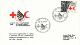 Switzerland Cover International Red Cross Conference Geneve 23-31/10-1986 With Cachet - Red Cross