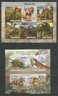 GUINEA BISSAU - MOZAMBIQUE - 2012 - MNH - Animals - Prehistorics - Dinosaurs - Stamps