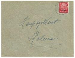SK212 - GRUSENHEIM - 1941 - Sur Hindenburg Surchargé Elsass -- - Alsace Lorraine