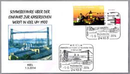 PUENTE TRANSBORDADOR De Kiel - Transporter Bridge - Transbordeur. Kiel 2014 - Puentes
