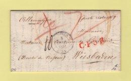 Meulun - 73 - Seine Et Marne - Destination Allemagne En Poste Restante - 3 Oct 1843 - Storia Postale