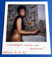 Vintage SEXY PIN-UP GIRL Photo - POLAROID Portrait - Junge Frau (halb-nackt/nude/nu), Jeune Femme, Young Woman [19-573] - Pin-Ups