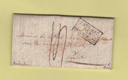 Amsterdam - 31 Juil 1824 - Destination France - Entree Pays Bas Par Valenciennes - ...-1852 Prephilately