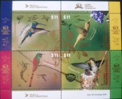 V) 2016 ARGENTINA, BIRDS, 100TH ANNIVERSARY OF AVES ARGENTINAS, PICAFLOR COMETA , PIOCAFLOR BARBIJO, PICAFLOR BRONCEADO, - Argentina