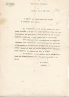Préfet Des Vosges ,renseignements Sur L'incursion De Zeppelins Et Avions...1916 - Documents