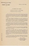 Préfet Des Vosges ,concerne L'obéissance Aux Ordres Du Gouvernement ,1944 - Documents