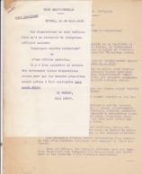Préfet Des Vosges ,défense Passive ,éclairage En Temps De Guerre ,3 Scans ,1938 - Documents