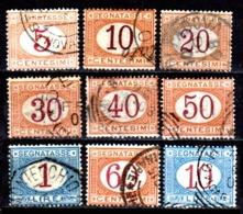 Italia-A-0616: SEGNATASSE 1890-94 (o) Used - Senza Difetti Occulti. - 1878-00 Humbert I.