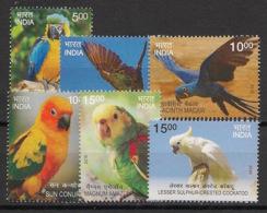 India - 2016 - N°Yv. 2732 à 2737 - Oiseaux / Perroquets / Parrots / Tropical Birds - Neuf Luxe ** / MNH / Postfrisch - Indien