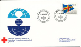 Aland FDC RED CROSS World Peaceconference Mariehamn 2-9-1984 - Red Cross