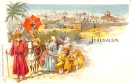 Jerusalem - Carte Précurseur Litho Colorisée Künzli, Zürich - Israel