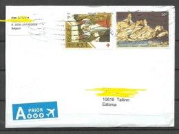 BELGIUM Belgien 2019 Air Mail Cover To Estonia - Belgio