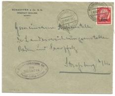 SK242 - MULHAUSEN (ELS) PFASSTATT SCHLOSS - 1941 -  Entête SCHAEFFER - Sur Hindenburg Surchargé Elsass - Elsass-Lothringen