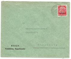 SK243 - RAPPOLTSWEILER - 1940 -  RIBEAUVILLE - Entête NSDAP - Sur Hindenburg Surchargé Elsass - Marcophilie (Lettres)