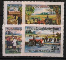 Laos - 1980 - N°Yv. 354 à 357 - Agriculture - Neuf Luxe ** / MNH / Postfrisch - Laos