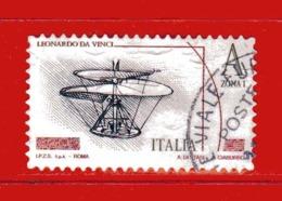 Italia ° -  2015 -  LEONARDESCA Euro 3,50  ZONA 1.    Usato  LUSSO. - 2011-...: Oblitérés