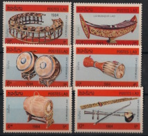 Laos - 1984 - N°Yv. 539 à 544 - Instruments De Musique - Neuf Luxe ** / MNH / Postfrisch - Laos