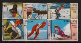 Laos - 1988 - N°Yv. 838 à 843 - Olympics / Calgary - Neuf Luxe ** / MNH / Postfrisch - Laos