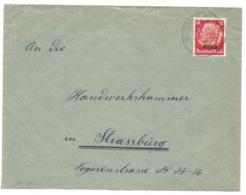SK251 - STEINBACH (KR THANN ELS) - 1941 - Sur Hindenburg Surchargé Elsass - Marcophilie (Lettres)