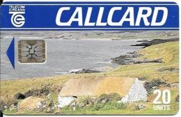 CARTE-PUCE-IRELAND-SC5-20U-R°Glacé-V° N° Série 5 N°Ge 39935 (dans Angle Bleu)-PAYSAGE-TBE-RARE - Irlande
