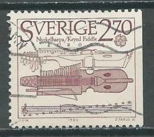 Suède YT N°1311 Europa 1985 Année Européenne De La Musique Oblitéré ° - Europa-CEPT