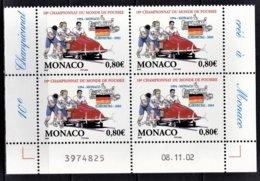 MONACO 2003 - BLOC DE 4 TP  N°2385 - COIN DE FEUILLE / DATE / NEUFS** - Monaco
