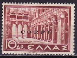 Ionian Islands 1941 Overprint CORFU In Black On Historical Issue 10 Dr. Brown Vl. 30 (*) - Ionische Eilanden