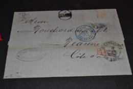 Lettre 1878 ST Petersburg Cachet Bleu Erquelines Russie Pour Beaune - 1877-1920: Periodo Semi Moderno